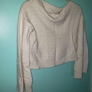 Alice & Olivia sz. medium white cropped sweater